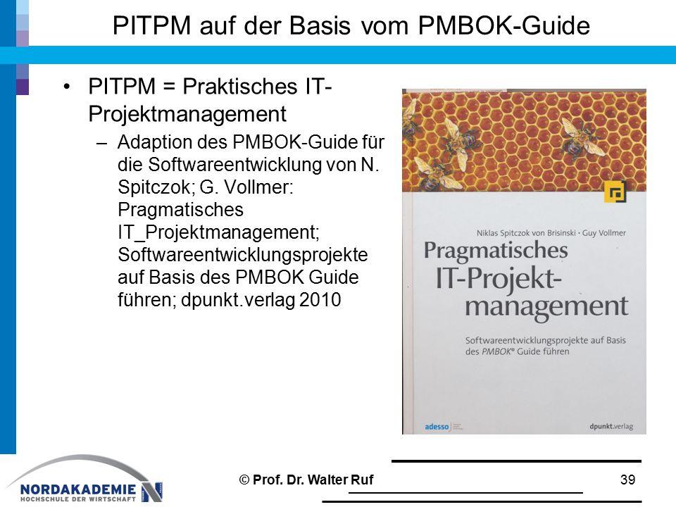 PITPM auf der Basis vom PMBOK-Guide