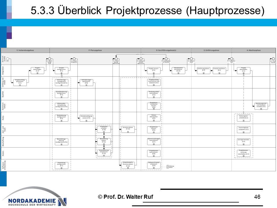 5.3.3 Überblick Projektprozesse (Hauptprozesse)