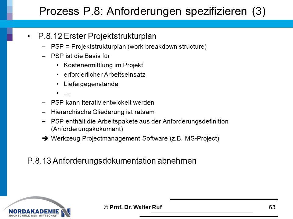 Prozess P.8: Anforderungen spezifizieren (3)