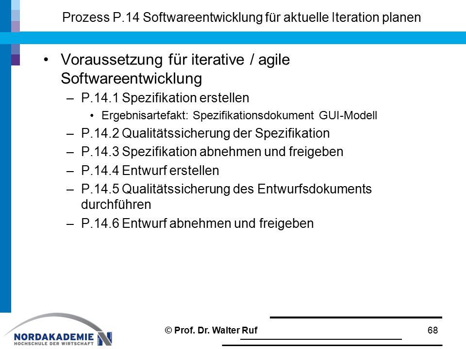 Prozess P.14 Softwareentwicklung für aktuelle Iteration planen