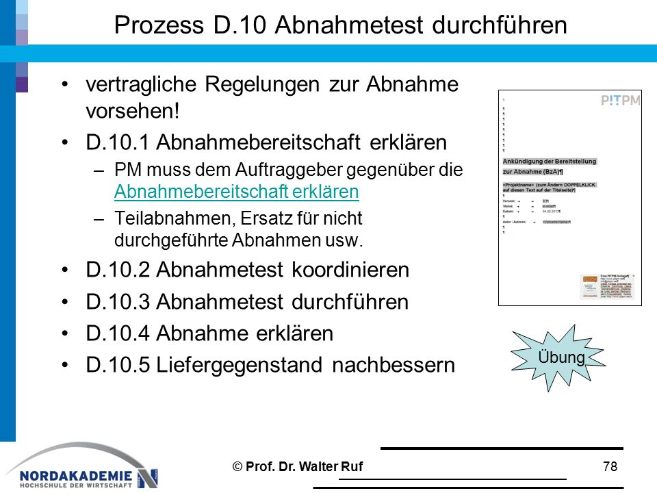 Prozess D.10 Abnahmetest durchführen