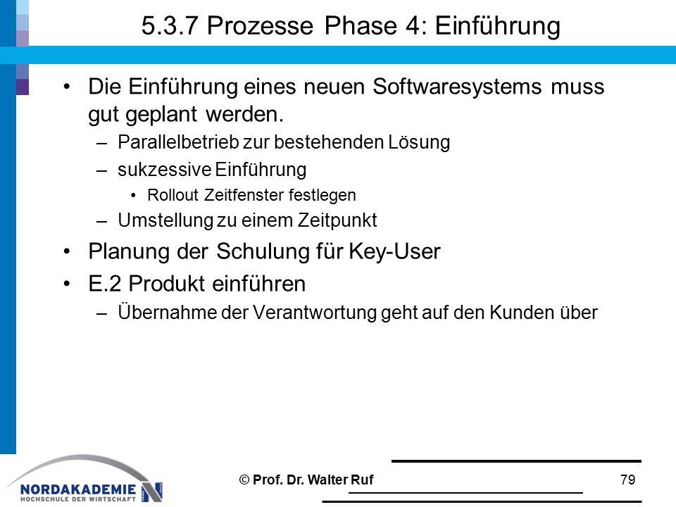 5.3.7 Prozesse Phase 4: Einführung