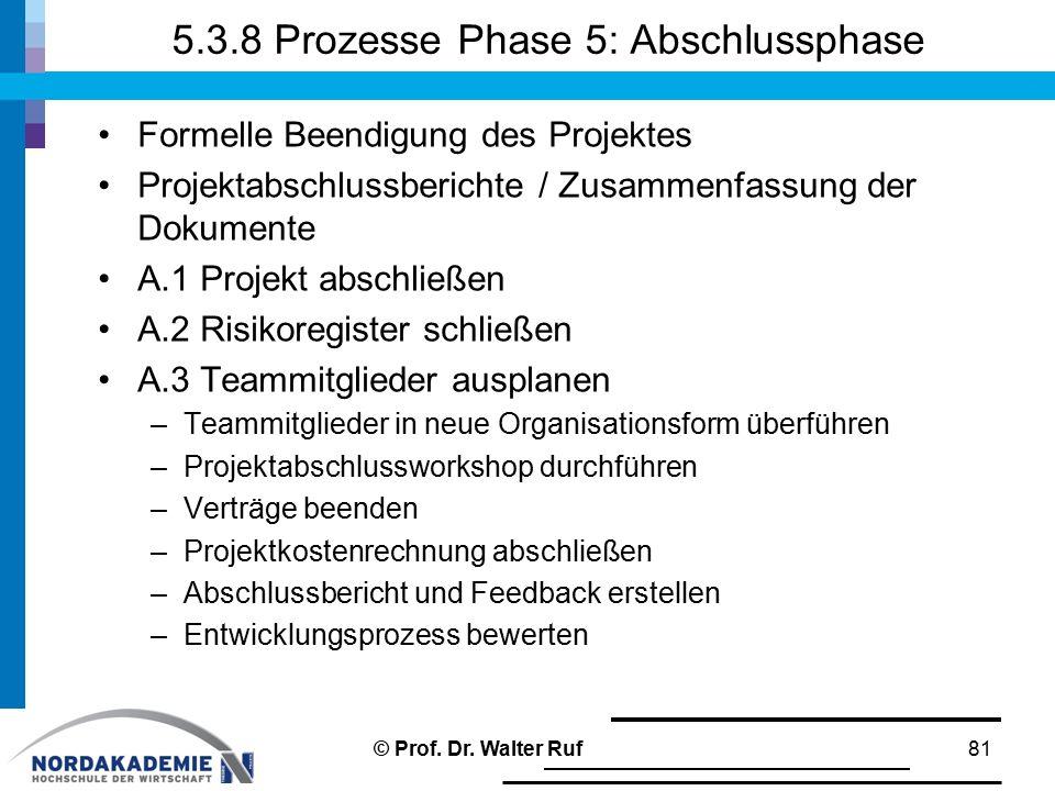 5.3.8 Prozesse Phase 5: Abschlussphase