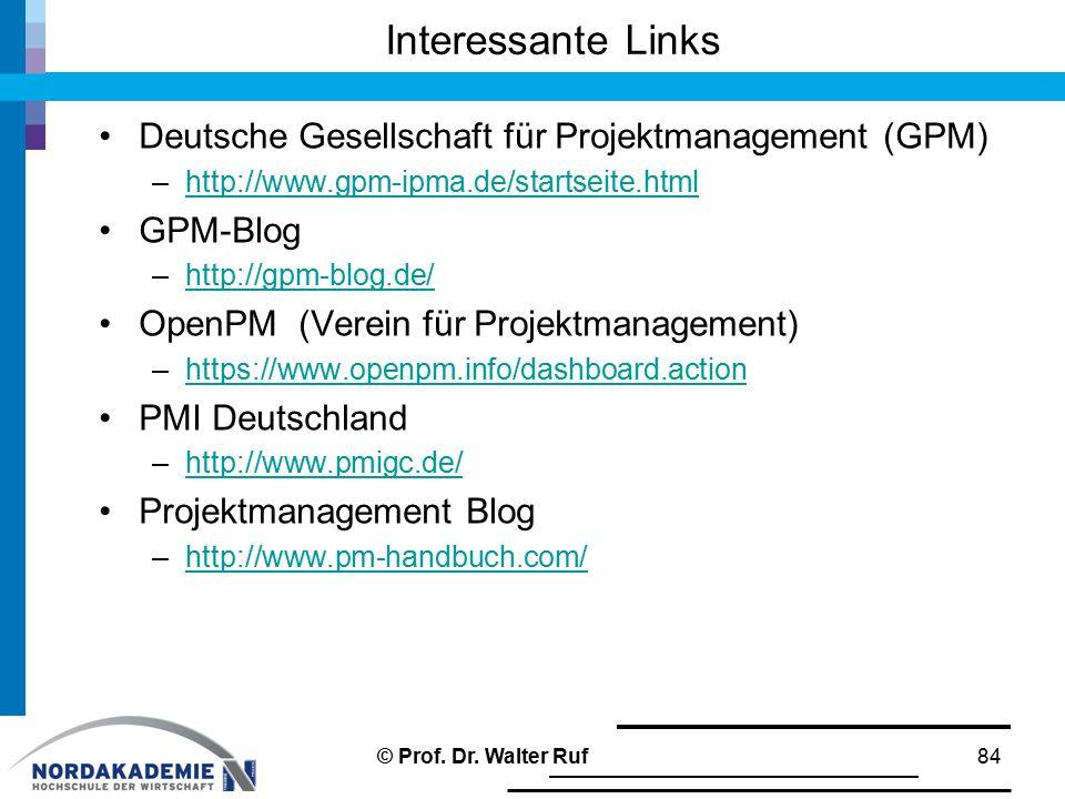 Interessante Links Deutsche Gesellschaft für Projektmanagement (GPM)