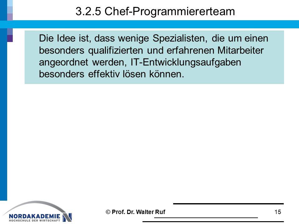 3.2.5 Chef-Programmiererteam