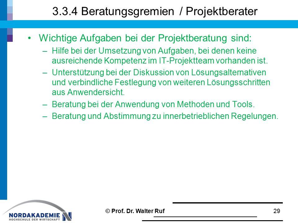 3.3.4 Beratungsgremien / Projektberater