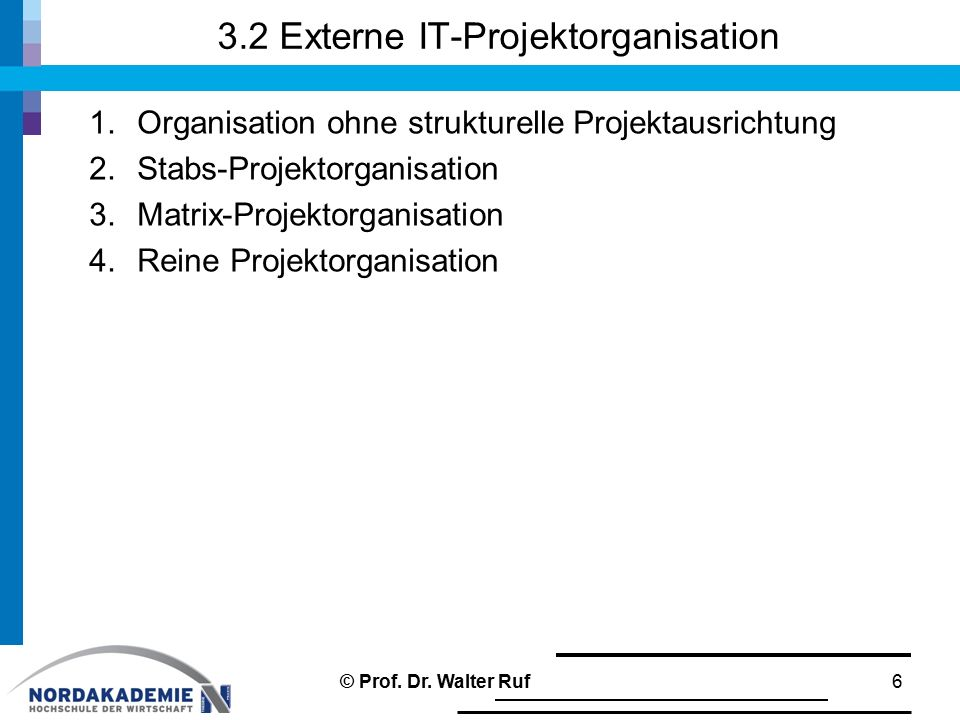 3.2 Externe IT-Projektorganisation