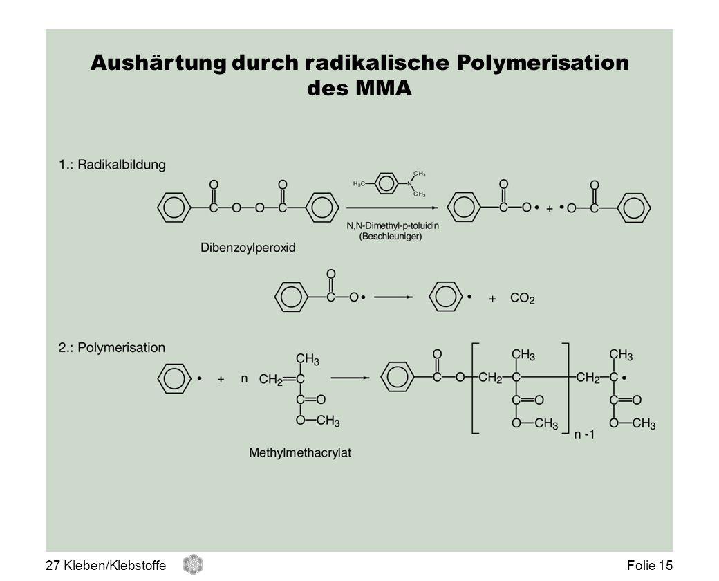 Aushärtung durch radikalische Polymerisation
