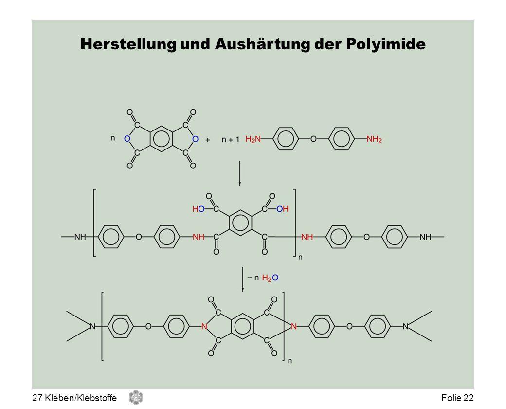Herstellung und Aushärtung der Polyimide