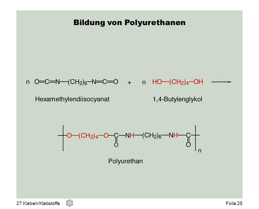 Bildung von Polyurethanen