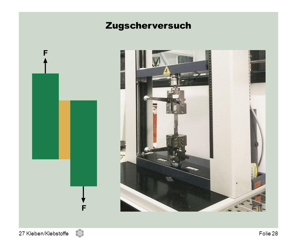 Zugscherversuch Zugscher-Versuch 27 Kleben/Klebstoffe Folie 28