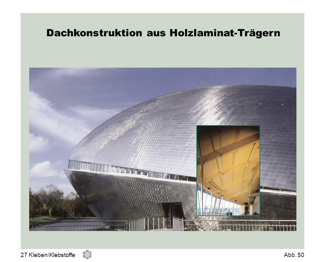 Dachkonstruktion aus Holzlaminat-Trägern