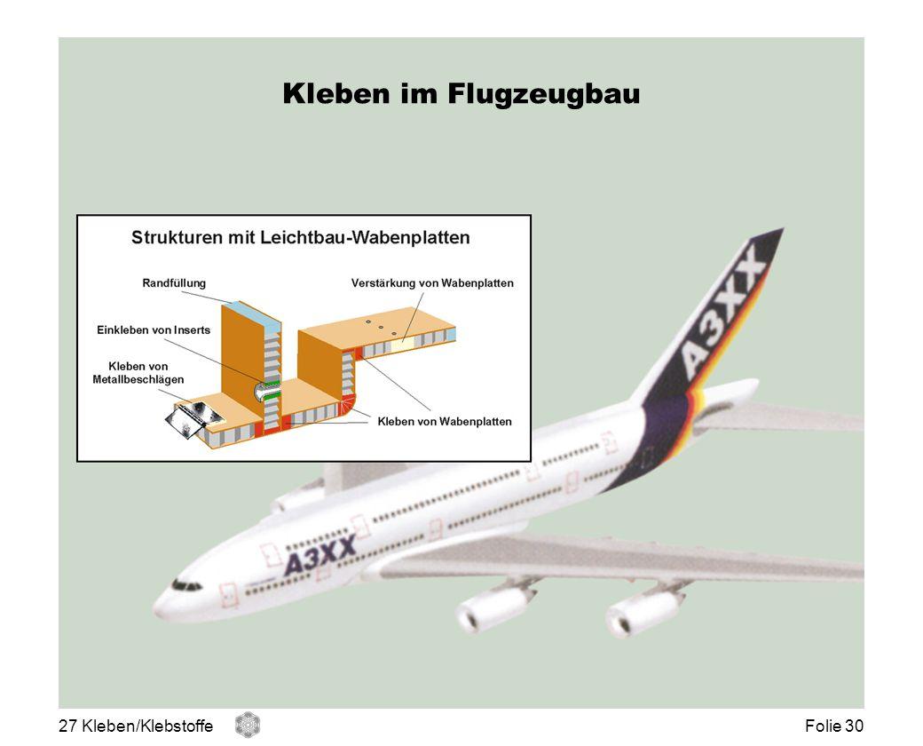 Kleben im Flugzeugbau 27 Kleben/Klebstoffe Folie 30