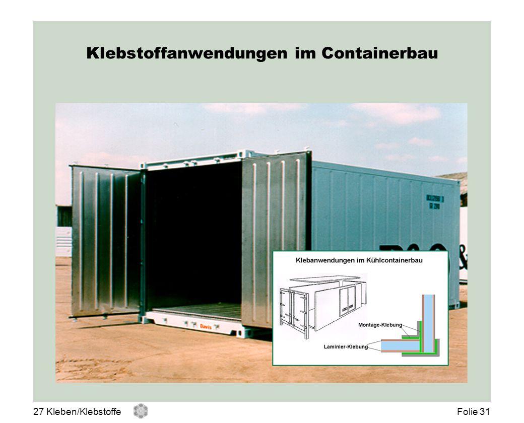 Klebstoffanwendungen im Containerbau