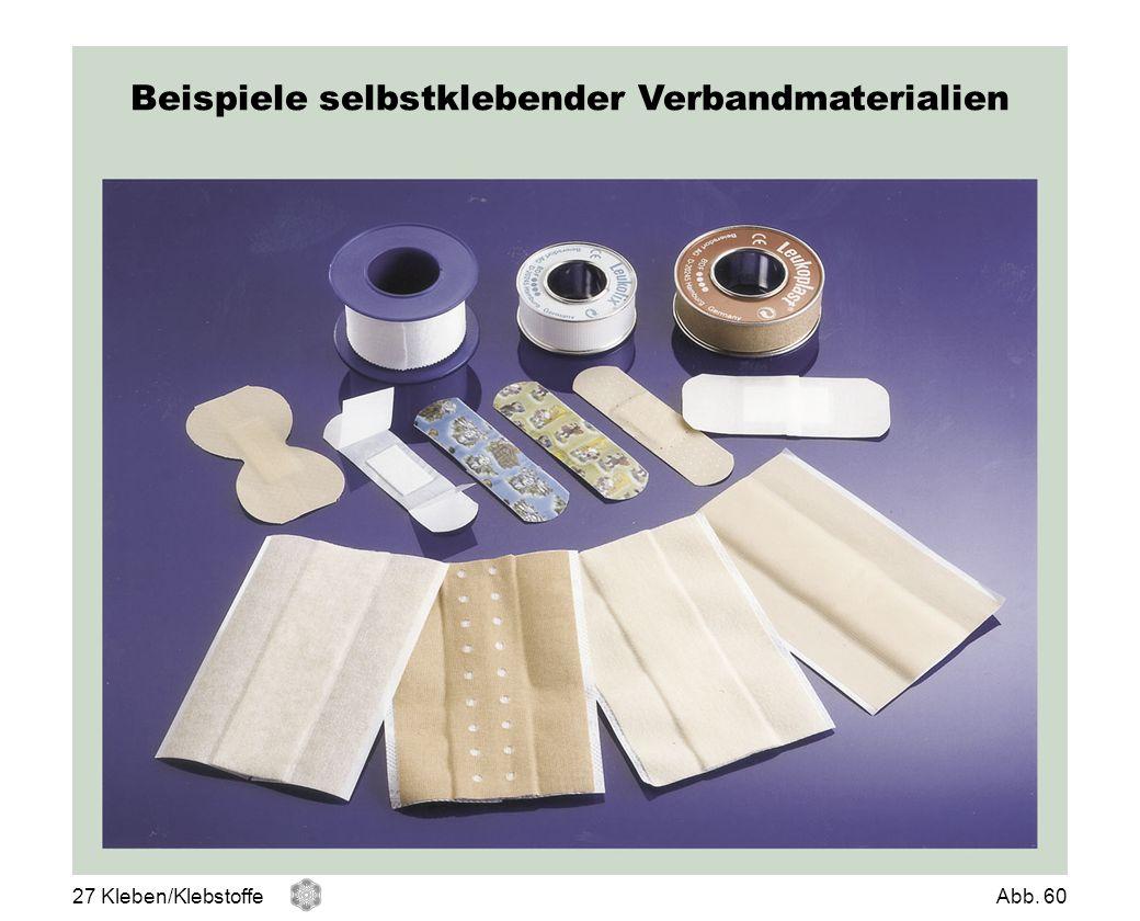 Beispiele selbstklebender Verbandmaterialien