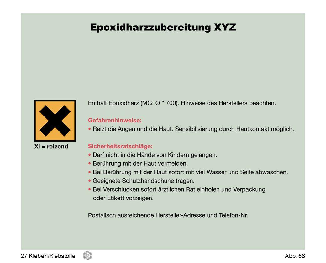 Epoxidharzzubereitung XYZ