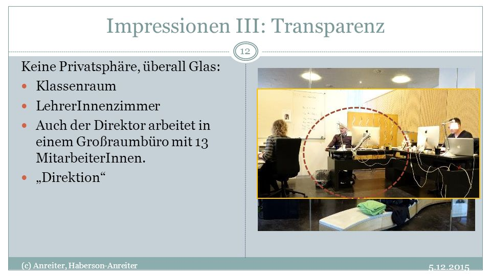 Impressionen III: Transparenz