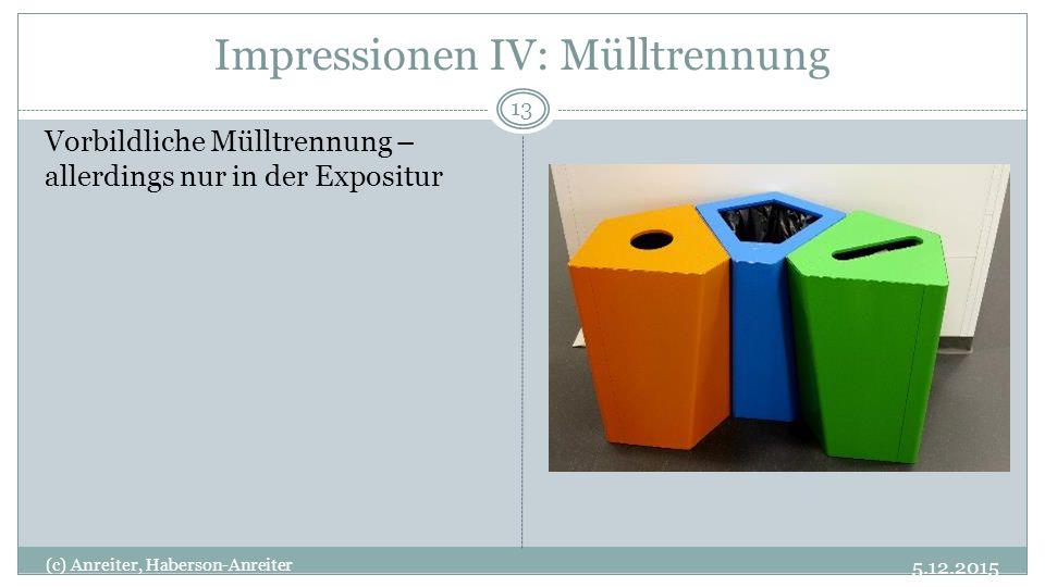 Impressionen IV: Mülltrennung