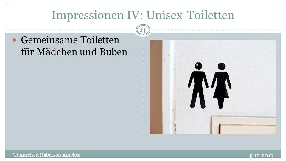 Impressionen IV: Unisex-Toiletten