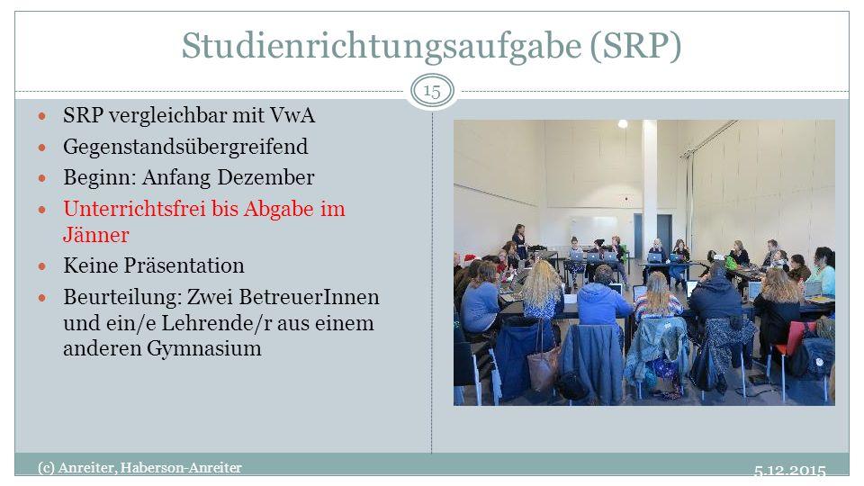 Studienrichtungsaufgabe (SRP)