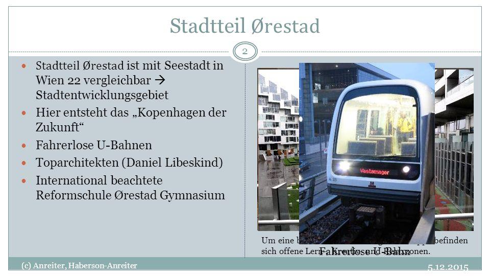 Stadtteil Ørestad Stadtteil Ørestad ist mit Seestadt in Wien 22 vergleichbar  Stadtentwicklungsgebiet.