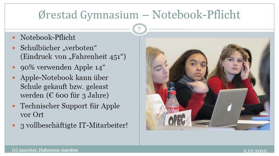 Ørestad Gymnasium – Notebook-Pflicht