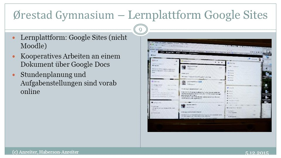 Ørestad Gymnasium – Lernplattform Google Sites