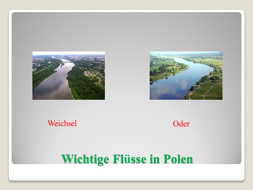 Wichtige Flüsse in Polen