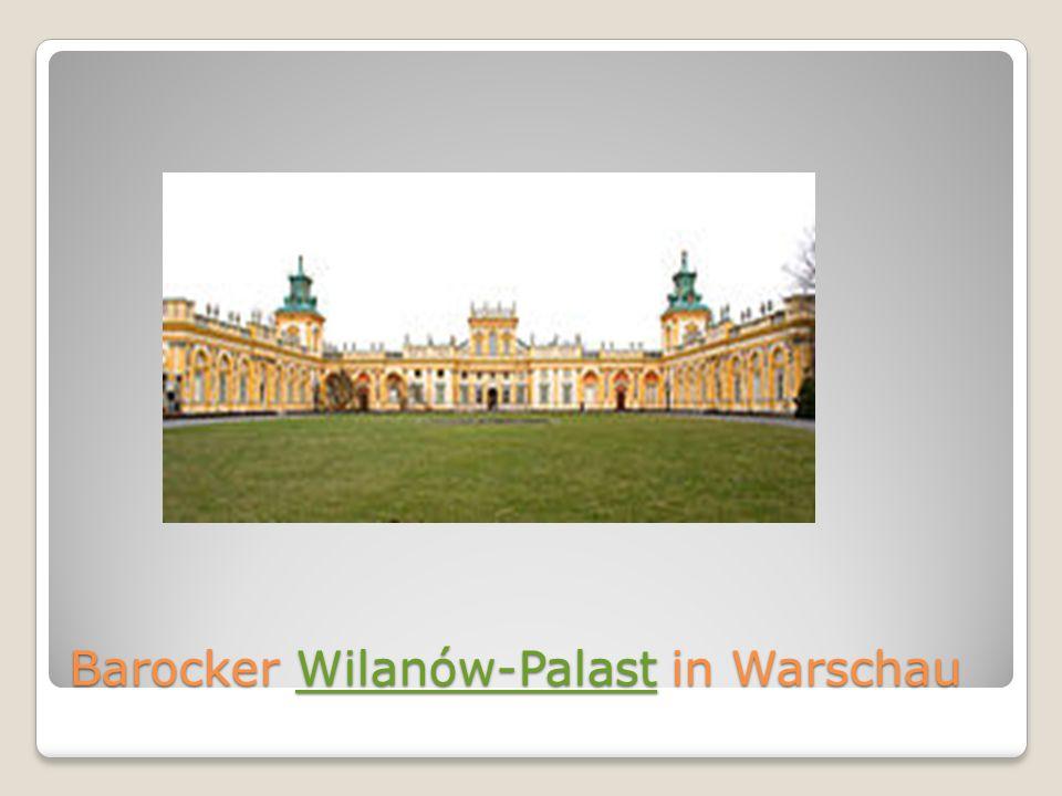 Barocker Wilanów-Palast in Warschau