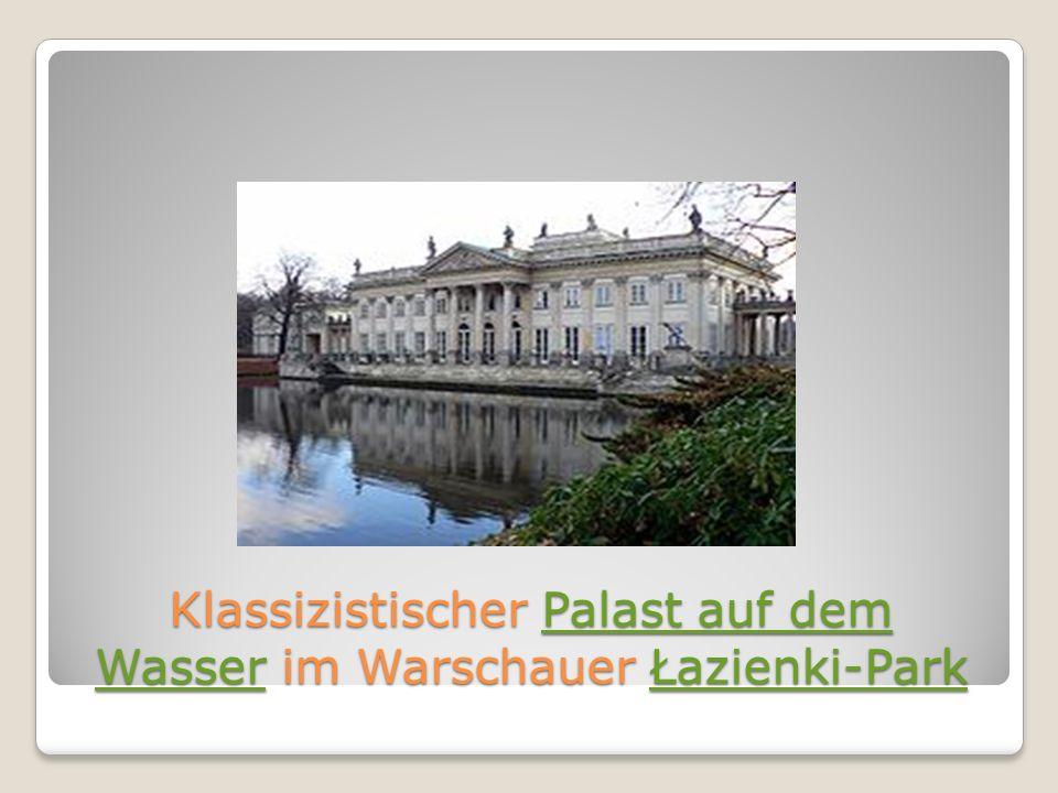 Klassizistischer Palast auf dem Wasser im Warschauer Łazienki-Park
