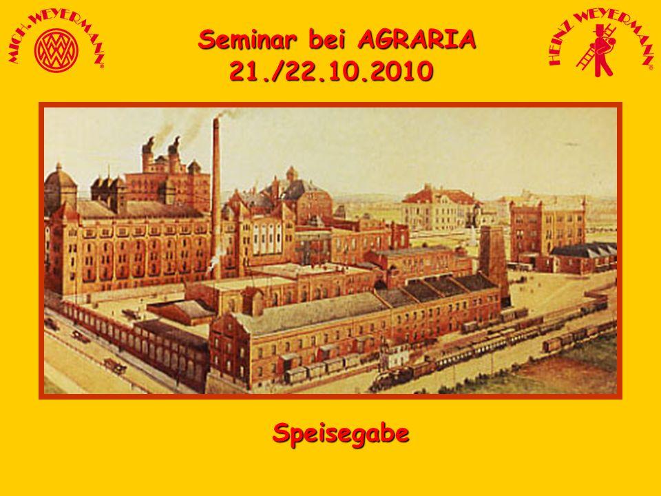Seminar bei AGRARIA 21./22.10.2010 Speisegabe