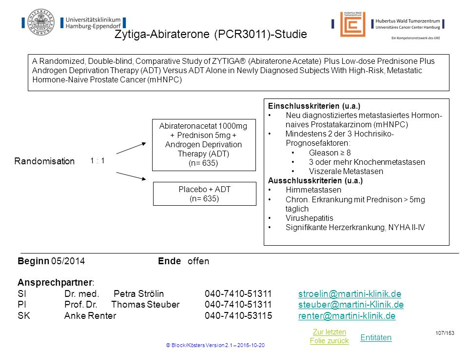Zytiga-Abiraterone (PCR3011)-Studie