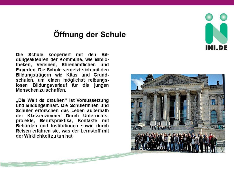 Öffnung der Schule