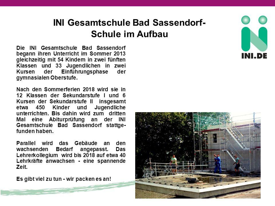 INI Gesamtschule Bad Sassendorf- Schule im Aufbau