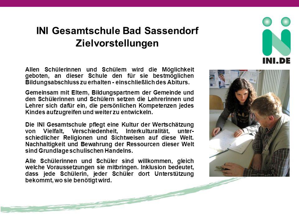 INI Gesamtschule Bad Sassendorf Zielvorstellungen
