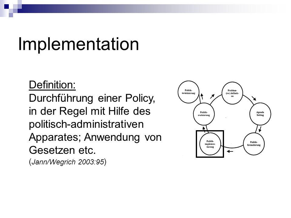 Implementation Definition: