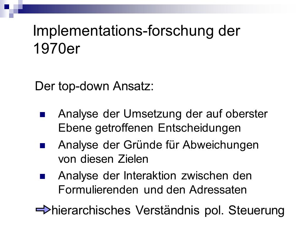 Implementations-forschung der 1970er