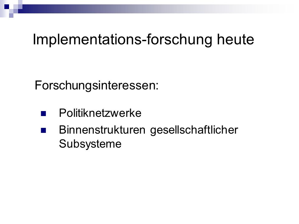 Implementations-forschung heute