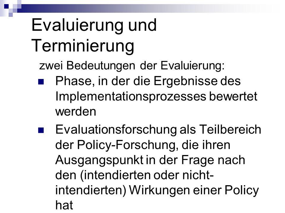 Evaluierung und Terminierung