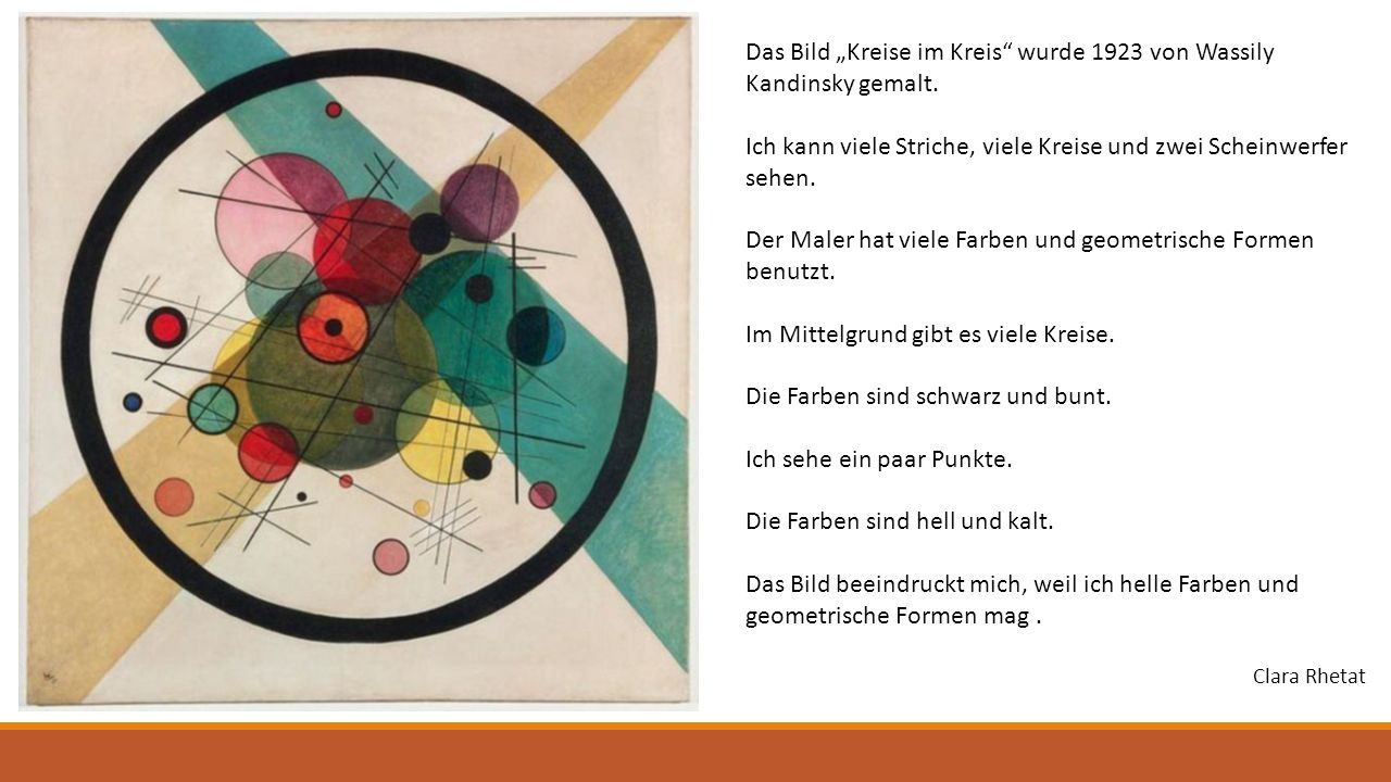 """Das Bild """"Kreise im Kreis wurde 1923 von Wassily Kandinsky gemalt."""