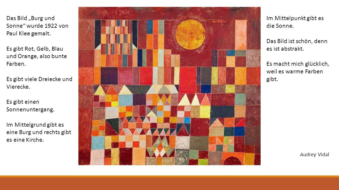 """Das Bild """"Burg und Sonne wurde 1922 von Paul Klee gemalt."""