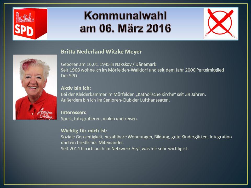 Britta Nederland Witzke Meyer