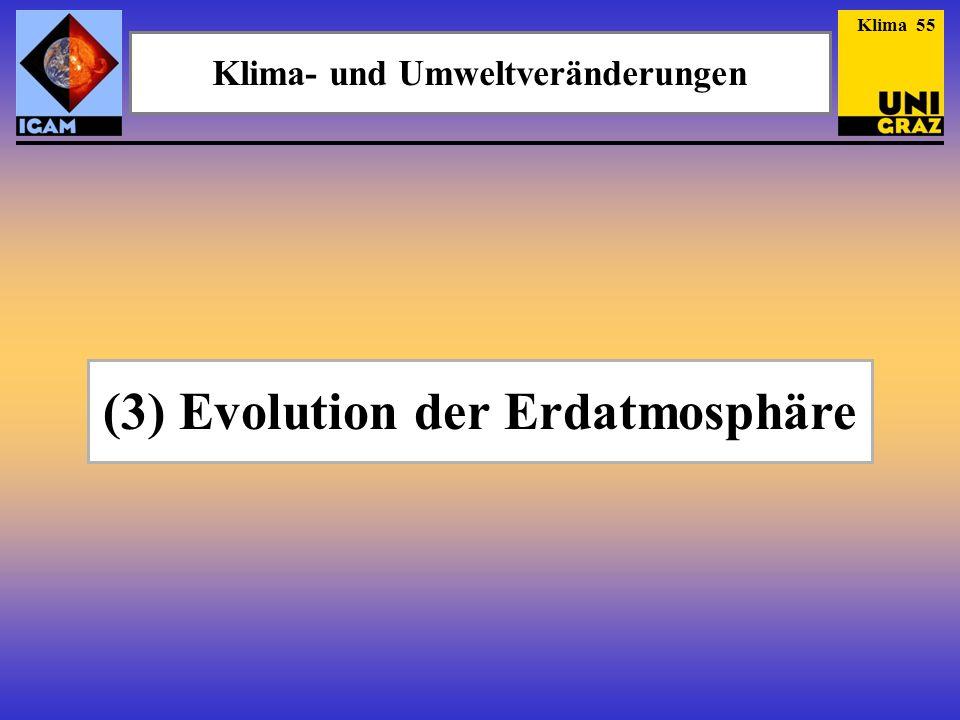 Klima- und Umweltveränderungen (3) Evolution der Erdatmosphäre