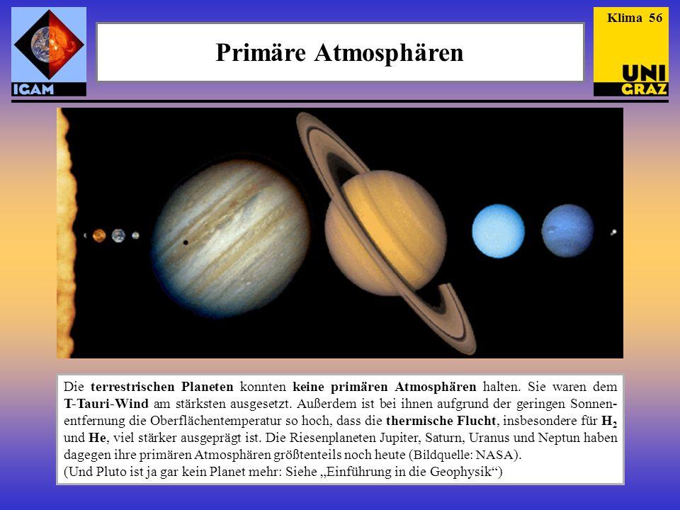 Klima 56 Primäre Atmosphären.
