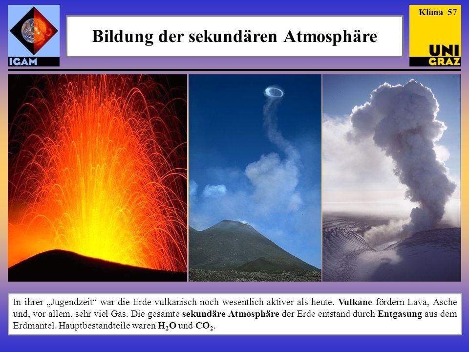 Bildung der sekundären Atmosphäre