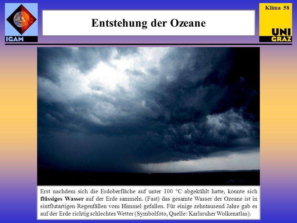 Klima 58 Entstehung der Ozeane.