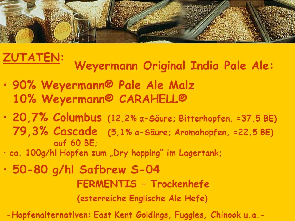Weyermann Original India Pale Ale: