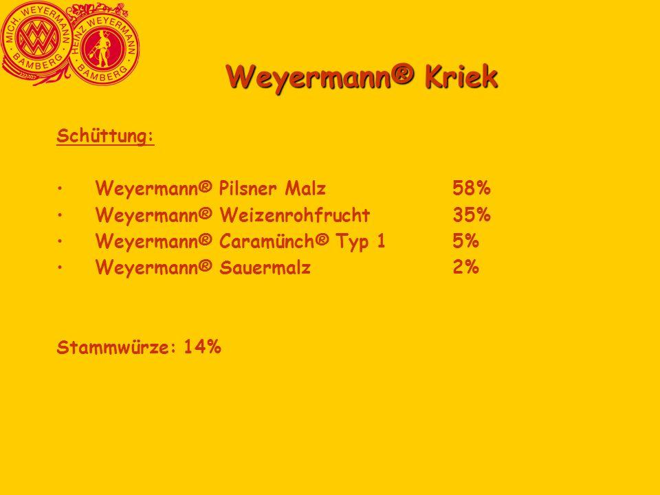 Weyermann® Kriek Schüttung: Weyermann® Pilsner Malz 58%