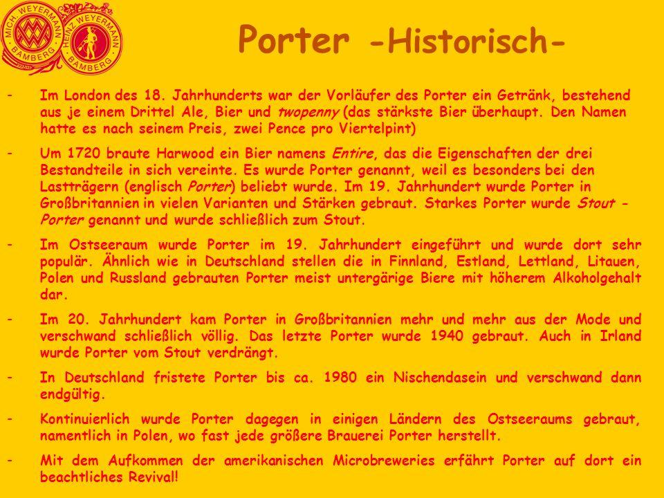 Porter -Historisch-