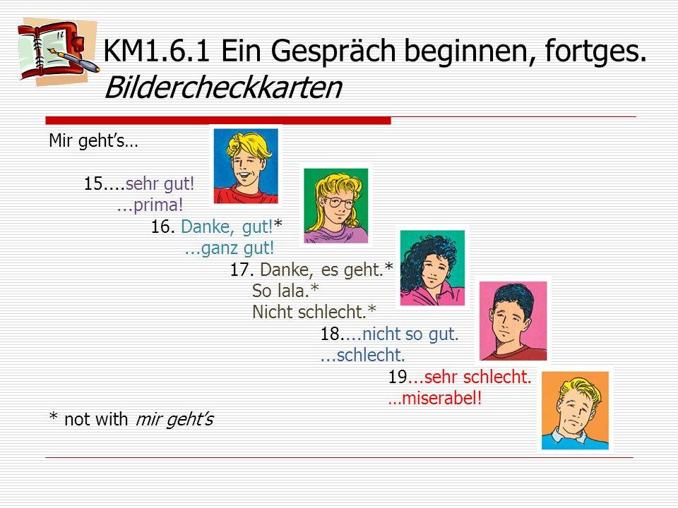 KM1.6.1 Ein Gespräch beginnen, fortges. Bildercheckkarten
